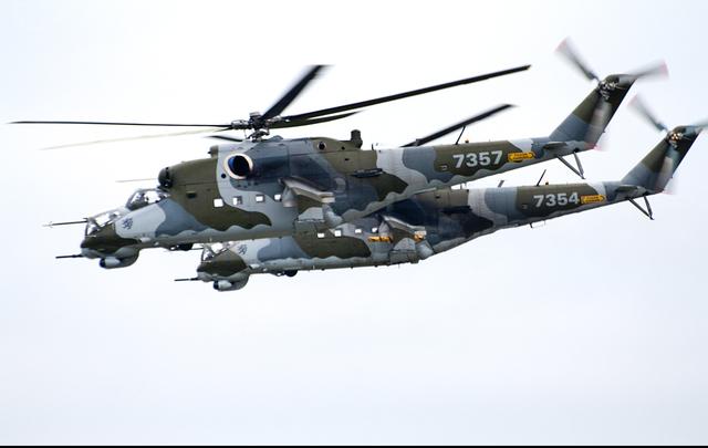 Foto vrtulníku 7357 - Mil Mi-24V Hind E