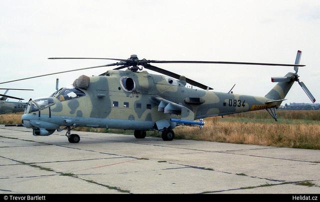 Foto vrtulníku 0834 - Mil Mi-24V Hind E